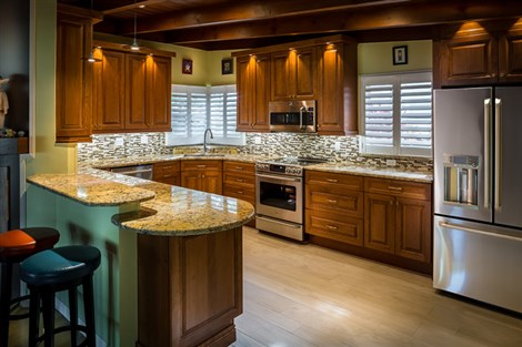 traditional style cherry wood kitchen cabinet doors.