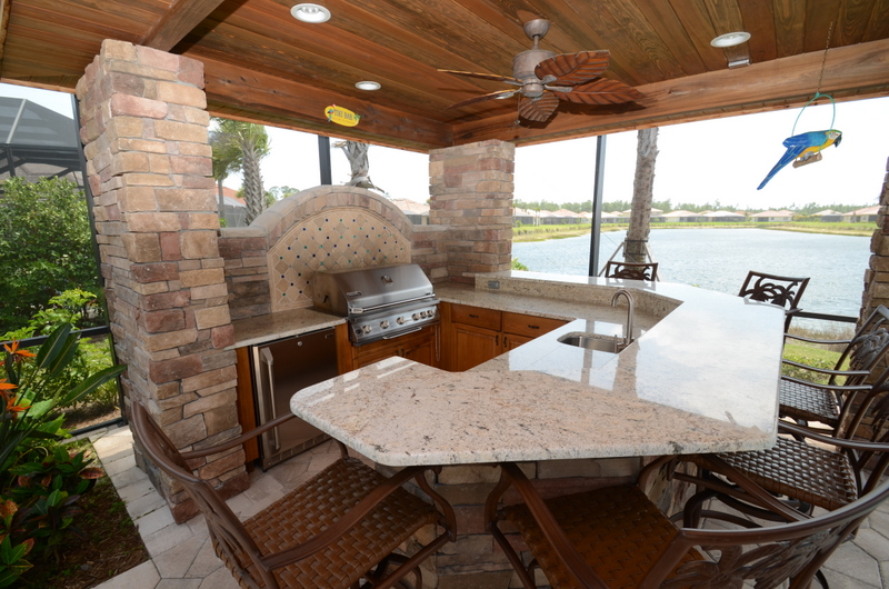 Outdoor cabinetry in Florida