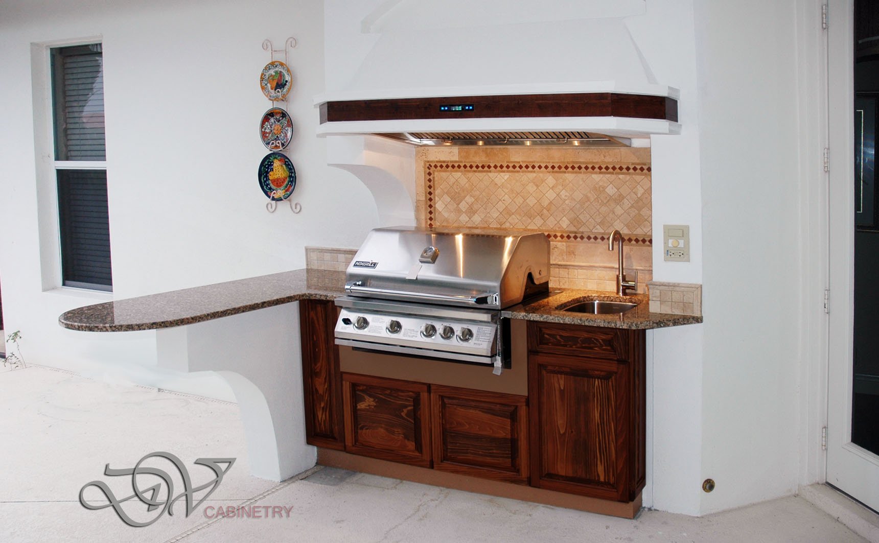 PWC outdoor kitchen cabinets